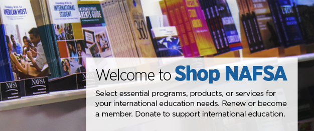 Shop NAFSA Homepage Banner
